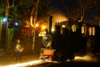 O&K 0-4-0 T&WT no.21 'Utrillas' waits at Delph on the early evening of 13 December 2015 whilst operating one of the Santa Specials on the West Lancashire Light Railway.<br><br>[John McIntyre&nbsp;13/12/2015]