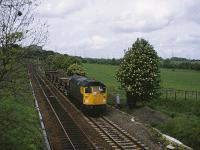 26014 with a PW train, Ravelrig Jct, Balerno. 26 May 1982<br><br>[Peter Todd&nbsp;26/05/1982]
