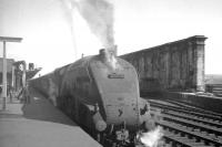 Gresley A4 Pacific 60012 <I>Commonwealth of Australia</I>, photographed shortly after arrival at Carlisle platform 1 on 13 July 1963. The train is the 9.30am London St Pancras - Glasgow St Enoch.<br><br>[K A Gray&nbsp;13/07/1963]