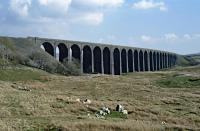 Ribblehead Viaduct seen from the north-west around mid-afternoon on 23 April 2015.<br><br>[Bill Jamieson&nbsp;23/04/2015]