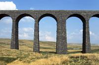 The north 'king' pier of Ribblehead Viaduct, viewed from the west in April 2015.<br><br>[Bill Jamieson&nbsp;23/04/2015]