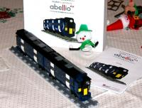 A completed version of the Abellio ScotRail 512 piece lego 'new train' freebie from the launch on 1 April 2015 [see image 50834]. This one was a limited edition version - having only 511 pieces! (With thanks to EC for assembly work - and moderation of language throughout).<br><br>[John Furnevel&nbsp;26/12/2015]