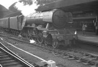 Gresley A3 60046 <I>Diamond Jubilee</I> seen shortly after arrival at Newcastle Central on 25 August 1962 with the 10.40am Kings Cross - Tyne Commission Quay boat train. The Pacific would shortly hand over to a V3 for the remainder of the journey to the Quay at North Shields. [See image 48033]  <br><br>[K A Gray&nbsp;25/08/1962]