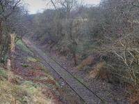 More than 20 years after passage of the last train, vegetation clearance has uncovered the Crombie/Charlestown branch near Merryhill (north of Braeside Junction).<br><br> What now?<br><br>[Bill Roberton