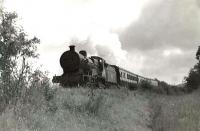 LMS 2P 4-4-0 40595 near Alloway on 6 August 1960 with a train for Heads of Ayr.    [Ref query 9615]<br><br>[G H Robin collection by courtesy of the Mitchell Library, Glasgow&nbsp;06/08/1960]