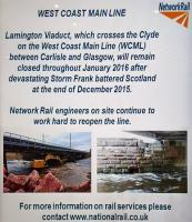 Network Rail's Lamington notice at Glasgow Central.<br><br>[John Yellowlees&nbsp;11/01/2016]