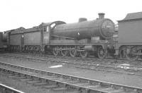 Robinson O4 2-8-0 63765 in the shed yard at Langwith Junction on 13 May 1961.<br><br>[K A Gray&nbsp;13/05/1961]