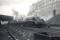 Gresley A4 Pacific 60004 <I>William Whitelaw</I> on Cowlairs Incline with the 5.15pm ex-Edinburgh Waverley on 5 August 1952.  <br><br>[G H Robin collection by courtesy of the Mitchell Library, Glasgow&nbsp;05/08/1952]