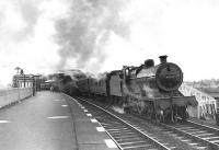 Class 2P 4-4-0 40595 leaving Troon on 28 March 1959 with an Ayr to Kilmarnock train.  <br><br>[G H Robin collection by courtesy of the Mitchell Library, Glasgow&nbsp;28/03/1959]