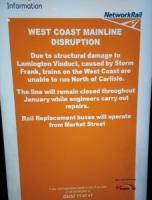This is the Lamington Viaduct notice at Waverley.<br><br>[John Yellowlees&nbsp;12/01/2016]