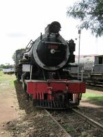 North British Locomotives of Glasgow built railway loco no 2921 'Masai of Kenya' in the 1950s for East African Railways. This is a 'Tribal' class of locomotive with a 2-8-2 wheel arrangement.<br><br>[Alistair MacKenzie&nbsp;17/03/2014]