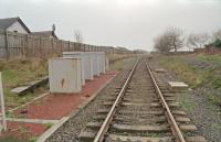 View west from the level crossing at Gatehead showing the disused westbound platform to the left.<br><br>[Ewan Crawford&nbsp;//1997]