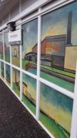Cockenzie Power Station is recalled in the newly-restored murals at Prestonpans Station.<br><br>[John Yellowlees&nbsp;16/01/2016]