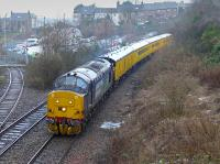 DRS 37688 passes Inverkeithing South Junction with a Slateford - Inverness inspection train on 18 January.<br><br>[Bill Roberton