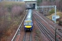 ScotRail 170475 takes the Borders line at Newcraighall North Junction on 19 January 2015 shortly after restarting from Newcraighall station with the 1054 Edinburgh Waverley - Tweedbank.<br><br>[John Furnevel&nbsp;19/01/2015]