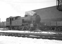 Gresley V3 67678 in the shed yard at a snowy Gateshead, thought to have been photographed in December 1962. The locomotive had been released from Parkhead and moved south following Clydeside electrification. The 2-6-2T gave another two years service until withdrawal in November 1964. It was eventually cut up by Messrs T J Thompson of Stockton in February 1965. <br><br>[K A Gray&nbsp;/12/1962]