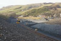 The new loading sidings at Arcow Quarry are in an advanced stage of construction on 23 January 2016. This new connection off the Settle and Carlisle line south of Horton-in-Ribblesdale is expected to be ready for the first stone trains very soon.<br><br>[John McIntyre&nbsp;23/01/2016]