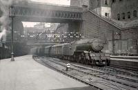 Gresley V2 2-6-2 60894 brings a train into Glasgow Queen Street on 22 April 1949.