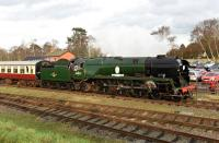 The Great Central Railway started their Winter Gala on Friday, running five engines in total working a variety of trains.<br><br> Bulleid Pacific no 34053 <I>'Sir Keith Park'</I> is on loan from the Severn Valley Railway.<br><br>[Peter Todd&nbsp;29/01/2016]