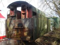 The tender tank from Bullied 'West Country' Pacific 34101 <I>Hartland</I> in an engineering company yard north of York in January 2016. Whether it is to be overhauled or a replacement is to be built is unclear.<br><br>[David Pesterfield&nbsp;09/01/2016]