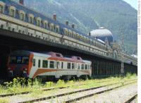 Canfranc International Station with RENFE 592 Railcar.<br><br>[Alistair MacKenzie&nbsp;//]