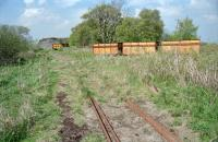 Part of the 3ft gauge peat railway operated by William Sinclair Horticulture, Gardrum Moss, Shieldhill, near Falkirk in 2000. [Ref query 2273]<br> <br><br>[Ewan Crawford&nbsp;//2000]
