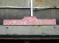 Nameplate of 'Mount Shengena', one of the museums stars.<br><br>[Alistair MacKenzie&nbsp;17/03/2004]