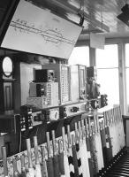 Interior of Quintinhill signal box in 1972. The diagram can now be found at the Devil's Porridge Museum by Eastriggs [see image 54155].<br><br>[Dougie Squance (Courtesy Bruce McCartney)&nbsp;01/07/1972]