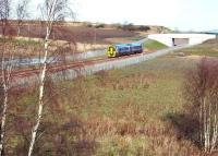 The 1128 ex-Tweedbank, formed by ScotRail unit 158728, photographed on 15 February 2016. The train is heading north along the new route opened in 2015 between Shawfair and Newcraighall.<br><br>[John Furnevel&nbsp;15/02/2016]