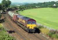 66198 passes Magdalen Green with a short freight from Mossend to Aberdeen in the summer of 2001.<br><br>[Bill Roberton