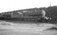 Robinson O4 2-8-0 no 63724 standing in the shadow of the coal stack at Ardsley shed on 8 September 1962, a month after its official withdrawal by BR. The locomotive was cut up at Gorton Works in October that year. <br><br>[K A Gray&nbsp;09/09/1962]