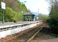<I>'The flowers that bloom in the spring tra-la...'</I><br/> View north along the platform at Arrochar and Tarbet on the morning of 10 April 2005.<br><br>[John Furnevel&nbsp;10/04/2005]
