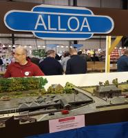 A challenging perspective. Model of Alloa station as it was before closure seen at the Model Rail Exhibition at the SECC in Glagow.<br><br>[John Yellowlees&nbsp;26/02/2016]