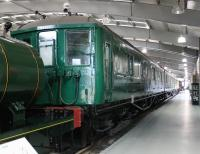 Sole surviving Southern 2-BIL EMU 2090, seen in the exhibition hall at NRM Shildon. These pre-war units were designated TOPS Class 401 but the last of the 152 sets was withdrawn in 1971. <br><br>[Mark Bartlett&nbsp;27/11/2012]