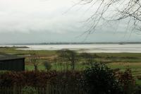 View of both Solway Viaduct embankments, as seen from the area known as <I>Back of the Hill</I> in Annan on 31st January 2016 <br><br>[Mark Bartlett&nbsp;31/01/2016]