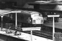 Holbeck Peak no 30 stands at Carlisle platform 3 on 26 January 1972 shortly after arrival with the down <I>Thames - Clyde Express</I> for Glasgow Central.<br><br>[John Furnevel&nbsp;26/01/1972]