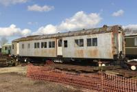 A Sentinel-Cammel Steam Multiple Unit car from the Egyptian State Railways, preserved at Quainton Road. Note that the three car unit, which operated suburban services out of Cairo, was articulated with only four bogies for the complete set. <br><br>[Peter Todd&nbsp;24/02/2016]