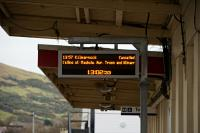 <i>'The 13.57 to Kilmarnock will not be the next train at Platform 1, not calling at Maybole, Ayr, Troon and Kilmarnock.'</i><br><br> Unusual announcement at Girvan!<br><br>[Colin Miller&nbsp;25/02/2016]