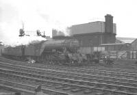 An up pigeon special heads west on the goods lines past Newcastle Central on a murky 25 May 1963. The train is hauled by Gresley V2 2-6-2 no 60847 <i>'St Peter's School, York, AD 627'</i><br><br>[K A Gray&nbsp;25/05/1963]
