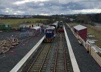 The view from the new footbridge at Alnwick (Lionheart).<br><br>[John Yellowlees&nbsp;06/03/2016]