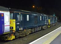 73968 and 73967 call at Inverkeithing with the ex-Aberdeen portion of the Caledonian Sleeper on 15 March 2016.<br><br>[Bill Roberton&nbsp;15/03/2016]