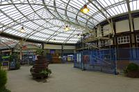 Wemyss Bay pier and station have been receiving considerable attention recently. This is the concourse today. The pier is due to reopen on Friday 25th, two days from now, with quite a bit left to do.<br><br>[Colin Miller&nbsp;23/03/2016]