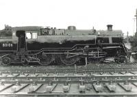 BR Standard class 4 2-6-4T 80106 stabled in the shed yard at Eastfield in the summer of 1961. <br><br>[G H Robin collection by courtesy of the Mitchell Library, Glasgow&nbsp;10/06/1961]
