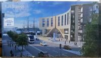 Here's the artist's impression of the new station building for Dundee. In some respects the arrow is facing the wrong direction ...<br><br>[John Yellowlees&nbsp;23/03/2016]