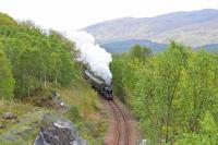 K1 No. 62005 is pictured climbing the gradient up to Glenfinnan Viaduct with <i>The Jacobite</i>.<br><br>[John Gray&nbsp;15/05/2014]