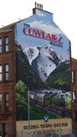 The 'Cowlairs Incline' mural on Endrick Street displays some artistic licence in celebrating the railway history of Springburn.<br><br>[Colin McDonald&nbsp;19/03/2016]