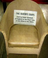 A seat supposedly used by our Queen during a visit.<br><br>[Alistair MacKenzie&nbsp;17/03/2014]