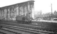Carlisle's west side station pilot <i>Jinty</i> 0-6-0T no 47471 looks to be at a bit of a loose end on 24 August 1963. <br><br>[K A Gray&nbsp;24/08/1963]