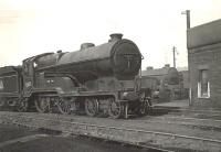 D11 'Director' class 4-4-0 no 62673 <I>Evan Dhu</I> in the shed yard at  Eastfield on 18 May 1954. <br><br>[G H Robin collection by courtesy of the Mitchell Library, Glasgow&nbsp;18/05/1954]