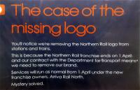 Seen at Penistone, 'The case of the missing logo'. (Or is that not seen?)<br><br>[John Yellowlees&nbsp;26/03/2016]